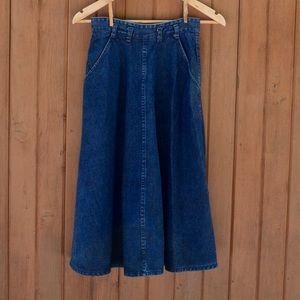 Dresses & Skirts - Vintage Denim Midi Skirt